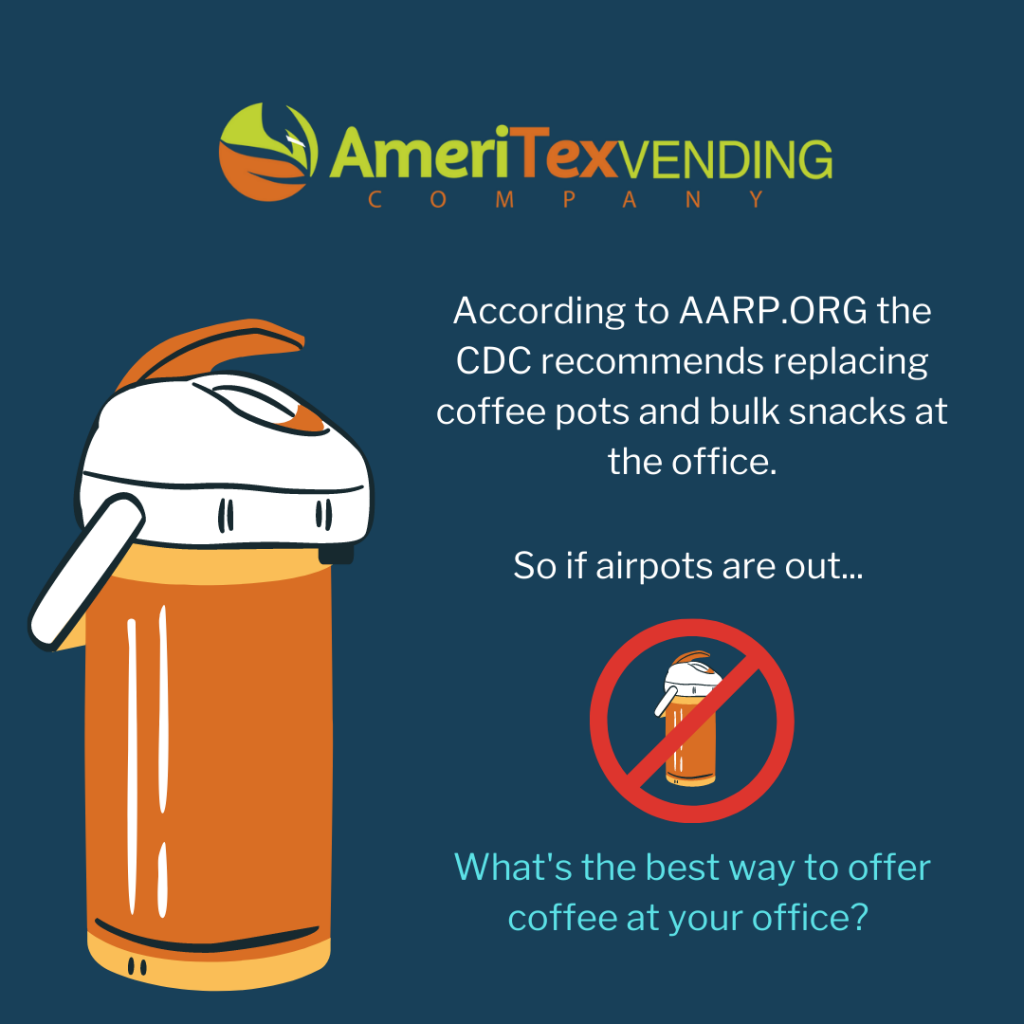 CDC recommends replacing airpot coffee offerings at offices